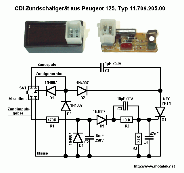 wiring diagram genuardis for scooter cdi
